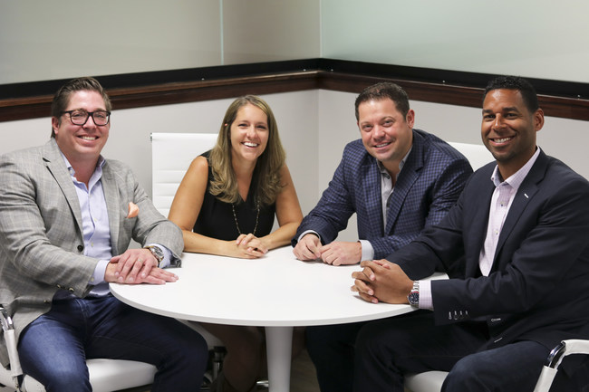 Costello Real Estate & Investments is excited to announce, Two new Owner/Partners Ruvell Martin & Keith Sandman. (Left to Right) Keith Sandman (Owner/Partner) , Natalie Costello (Owner/BIC), John Costello (Owner/CEO), & Ruvell Martin (Owner/Partner).