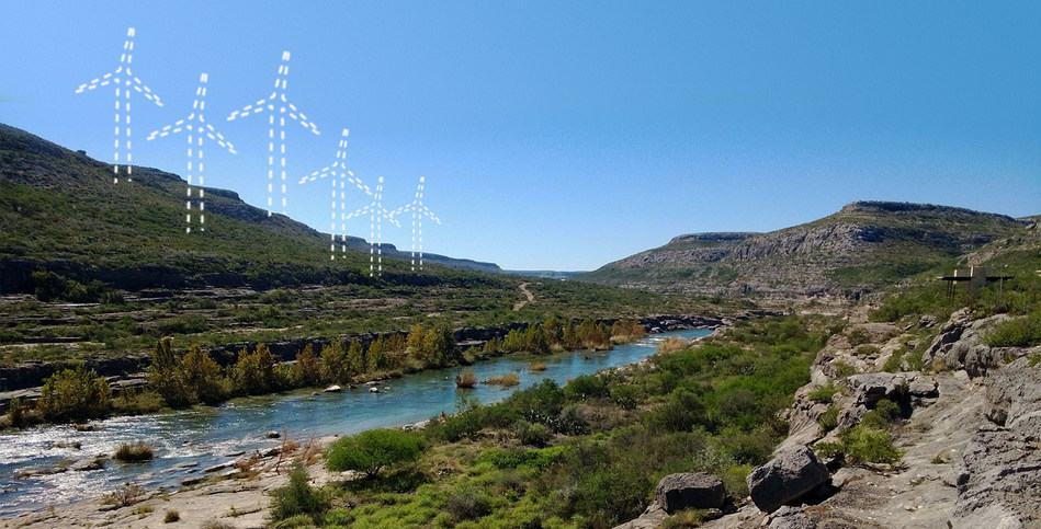 """The Devils River Conservancy urges Texans to """"Don't Blow It"""" by placing renewable energy in locations that negatively impact the state's few remaining unspoiled landscapes, ecologically and culturally significant areas, military operations, border security or the communities that depend on these assets."""