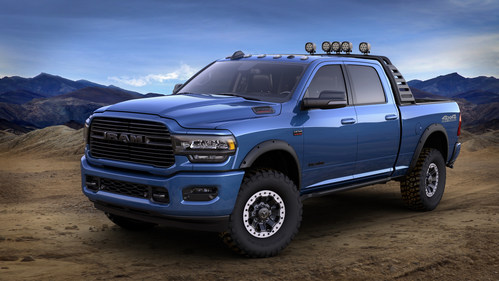 The Mopar and Ram Truck brands unveiled a modified 2019 Ram 2500 Heavy Duty truck at the 2019 Chicago Auto Show, highlighting a few of the more than 170 products Mopar will offer for the most powerful, most capable pickup in the segment.