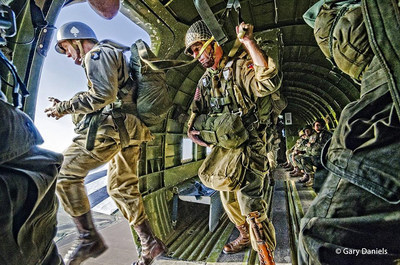 Nearly 300 men and women will board 35 historic C-47 aircraft in the United Kingdom to fly across the English Channel and jump into the historic drop zones of Normandy, as the highest-profile event of the D-Day 75th anniversary commemorations.