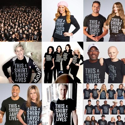The #ThisShirtSavesLives campaign has featured dozens of celebrity guests since it launched in 2017.