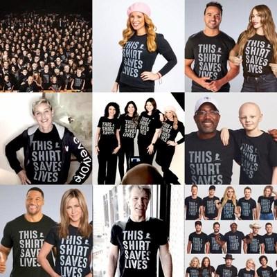 La campaña #ThisShirtSavesLives incluyó a decenas de celebridades desde su lanzamiento en 2017.
