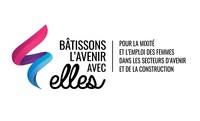 Logo: Bâtissons l'avenir avec elles (Groupe CNW/SEMO Le Jalon)