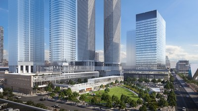 The new Sugar Wharf community on Toronto's Waterfront will be anchored by a two-acre park. (CNW Group/Menkes Developments Ltd)