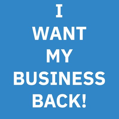 I Want My Business Back logo