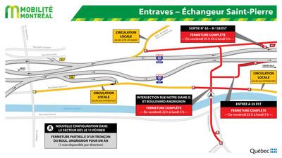 Entraves - Échangeur Saint-Pierre (Groupe CNW/Ministère des Transports)