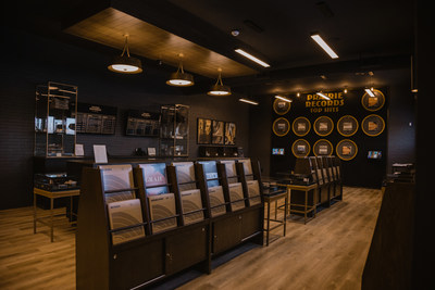 Prairie Records Store Interior, a unique cannabis retail experience now open in Warman, Saskatchewan (CNW Group/Westleaf Inc.)