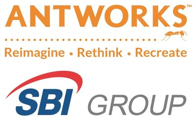AntWorks and SBI Logo