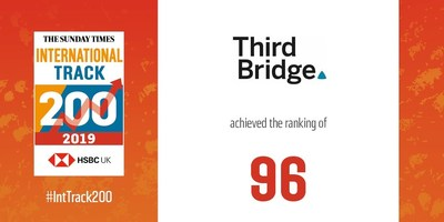 Third Bridge ranked among the top half of British private companies by international sales