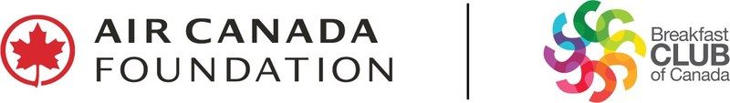 Logos: Air Canada Foundation | Breakfast Club of Canada (CNW Group/Breakfast Club of Canada)