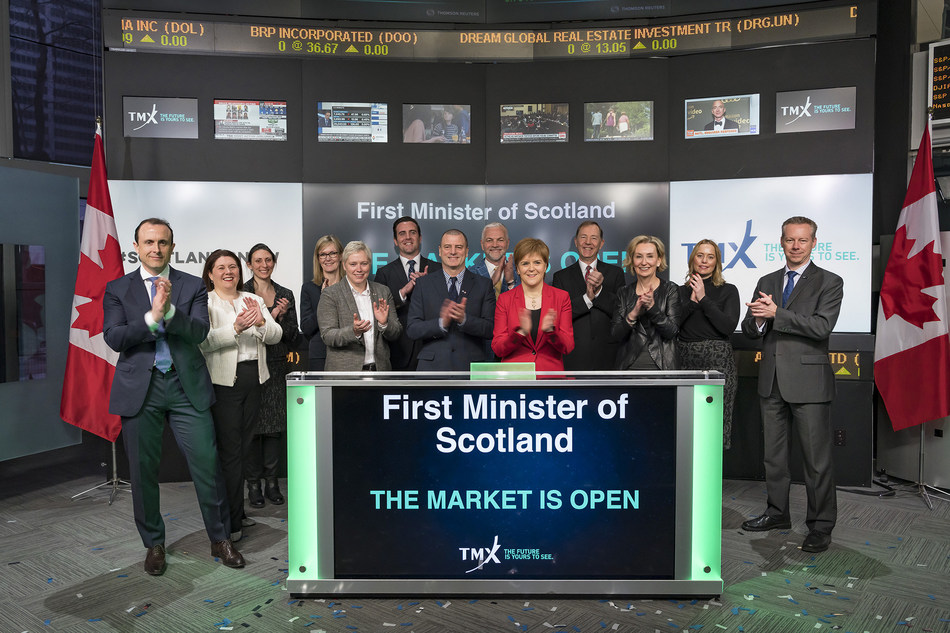 First Minister of Scotland Opens the Market (CNW Group/TMX Group Limited)