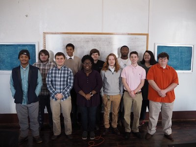 Members of the 2019 class of Base Camp Coding Academy, a non-profit charity in rural north Mississippi that provides under-advantaged youth with fast-paced, focused vocational training in computer programming to support the technology needs of local and regional employers.