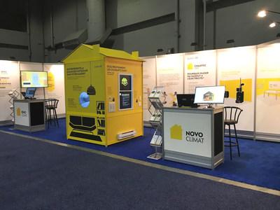 Kiosque interactif de Transition énergétique Québec (Groupe CNW/Transition énergétique Québec)