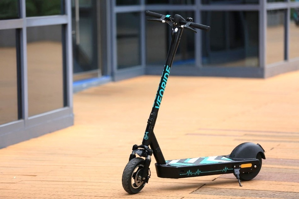 VeoRide e-scooters, designed from the ground up for commercial/shared use, feature 10-inch wheels with proprietary, shock-absorbent tires, dual brakes, a swappable battery housed in a wide deck, rear-positioned motor and mountain-bike type suspension for a smoother, more stable ride. Our engineering results in a rugged scooter that last 4-8 times longer than others available.