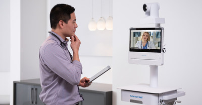 American Well's 250 Telemedicine Cart enables health systems to digitally load-balance clinical services for on-demand and scheduled visits, leveraging both in-system and cloud-network providers and specialists.
