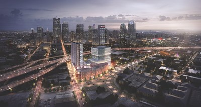 Rising from the intersections of Downtown, Deep Ellum and the Dallas Farmers Market, The Epic provides an eight-acre cultural gateway from the city's Central Business District to its most creative streets. Designed to amplify the spirit of the surrounding areas, the development provides engaging new business, hospitality, living and recreational destinations aligned with the dynamic makeup of the neighborhood.