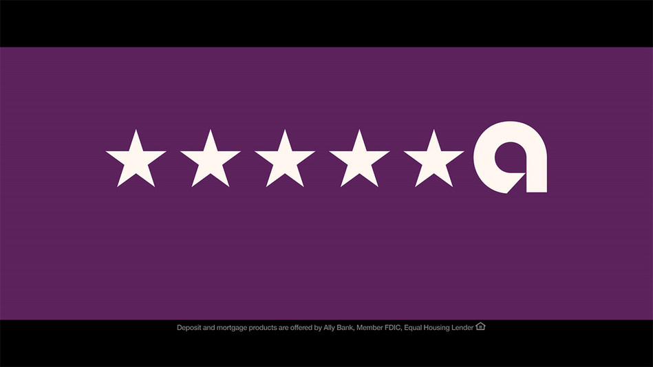"""The end card for the Ally """"Ratings"""" campaign which launched February 11, 2019. Ally's new creative campaign aims to show the importance of ratings, with exaggerated scenes of what can happen if you don't read the reviews before purchasing a product or service."""