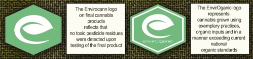 The values of the certification logos are described here. (CNW Group/Liht Cannabis Corporation)