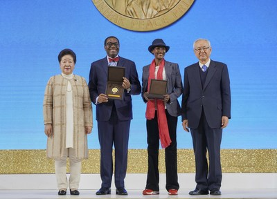 Dr. Hak Ja Han Moon, Dr. Akinwumi Adesina, Waris Dirie and Committee Chair, Dr. Il Sik Hong