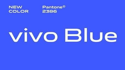 El color oficial Vivo Blue es más saturado y se diseñó para ser relajante a la vista. (PRNewsfoto/Vivo)
