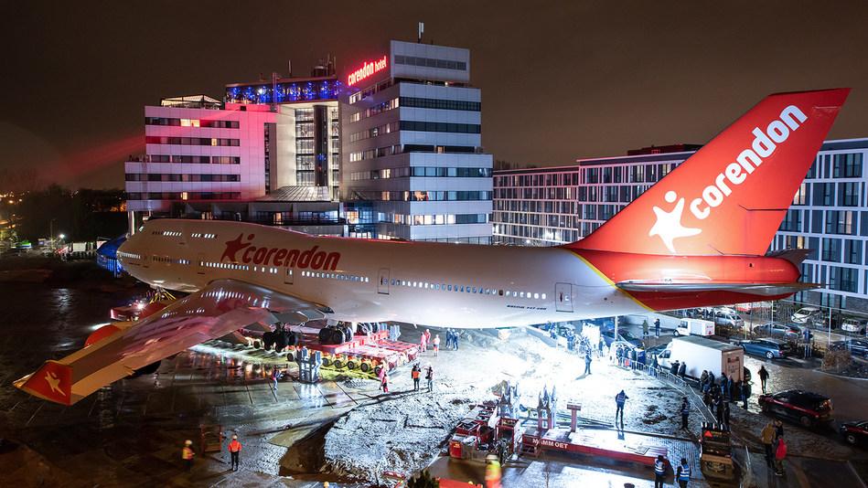 Corendon Boeing 747 has 'landed' in hotel garden (PRNewsfoto/Corendon)