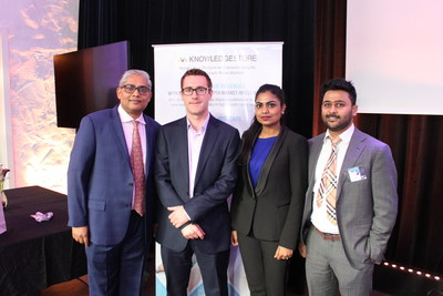 From left to right: Shelly Singh, Chief Operating Officer at MarketsandMarkets™; Dr. Richard Johnson, Senior Consultant at Oxentia; Swati Awasthi, Associate Director, Client Services at MarketsandMarkets™; Pavan Palety, Head of European Operations at MarketsandMarkets™