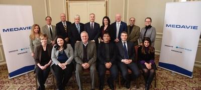 Participants à la table ronde sur l'état de stress post-traumatique (Groupe CNW/Croix Bleue Medavie)