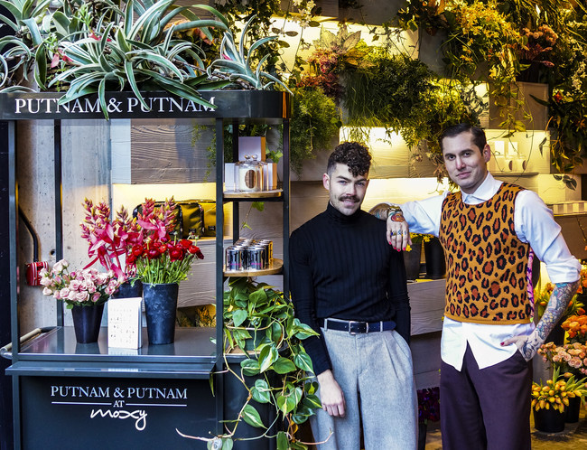 Michael and Darroch Putnam of Putnam & Putnam at their store at Moxy NYC Chelsea