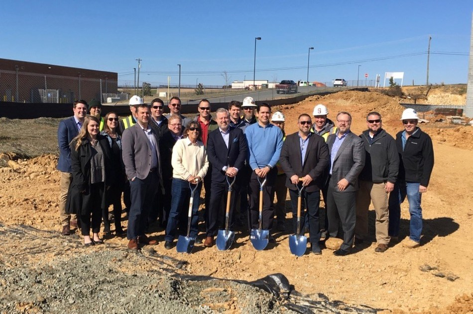 Watercrest Senior Living Group and Waypoint Residential gather with development and construction partners to celebrate the groundbreaking of Watercrest Fort Mill Assisted Living and Memory Care in South Carolina.