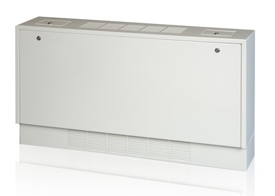Modine's new Electronically Commutated (EC) motors will be available in the full range of sizes, with selections including a standard or high static motor option to accommodate a wide range of external static pressures, for their cabinet unit heater offerings (pictured).