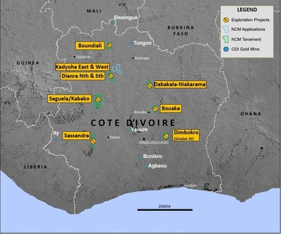 Figure 1: West African Regional Exploration Portfolio (CNW Group/Roxgold Inc.)