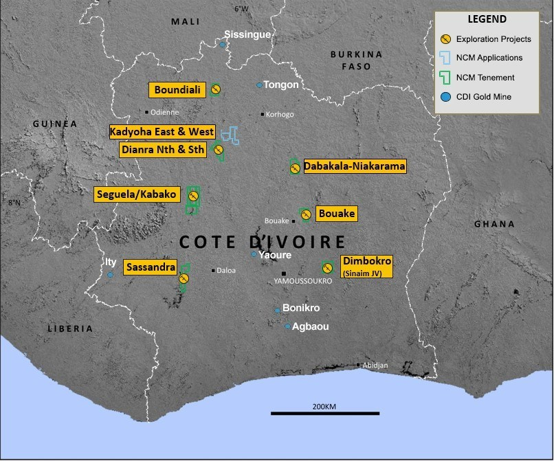Figure 1: West African Regional Exploration Portfolio (CNW Group/Roxgold Inc.)