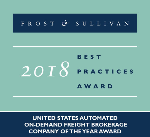 2018 United States Automated On-demand Freight Brokerage Company of the Year Award