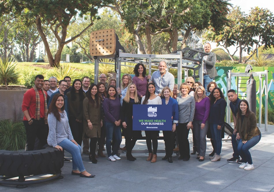 Members of the American Specialty Health team at ASH's Wateridge campus in San Diego.