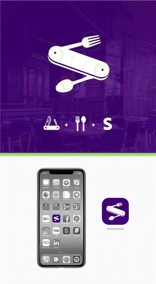 Sirved has rebranded every aspect of their company, from the logo and website, to the app and overall brand personality