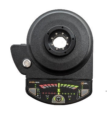 Wheelman Pro™ makes autosteering simple and affordable for every farm. The GPS-controlled Wheelman Pro offers high-torque for older tractors, is dust and water proof (IP67 rated) and replaces the existing wheel with a high-grip durable steering wheel. The included guidance dashboard allows farmers to quickly define a repeatable field path and engage the Wheelman system to begin autosteering. (CNW Group/Agjunction Inc.)