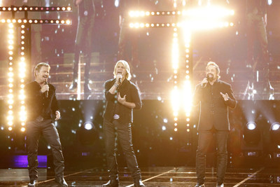 AMERICA'S GOT TALENT: THE CHAMPIONS -- Episode 104 -- Pictured: The Texas Tenors JC Fisher, Marcus Collins, John Hagen -- (Photo by: Trae Patton/NBC)
