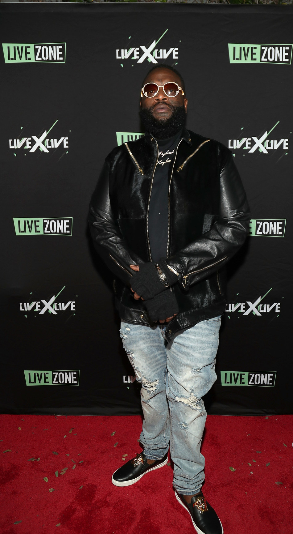 """Rick Ross arrives at the Peppermint Club in West Hollywood, California for """"LiveXLive Presents"""" event on February 10, 2019."""