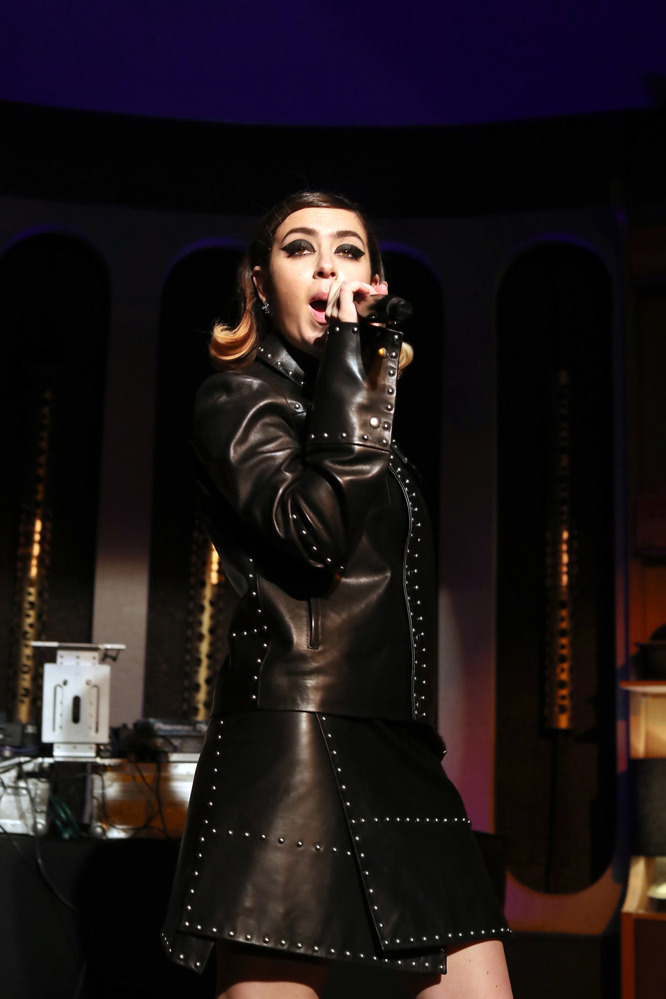 """Charli XCX performs at """"LiveXLive Presents"""" event at the Peppermint Club in West Hollywood, California, on February 10, 2019."""