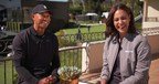 GOLFTV's Lead Tour Correspondent, Henni Zuel, with Tiger Woods at the Genesis Open