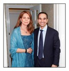 Her Majesty Queen Noor and Mr Saad Kurdi at Oxford University's memorial marking the 20th anniversary of the death of King Hussein of Jordan.