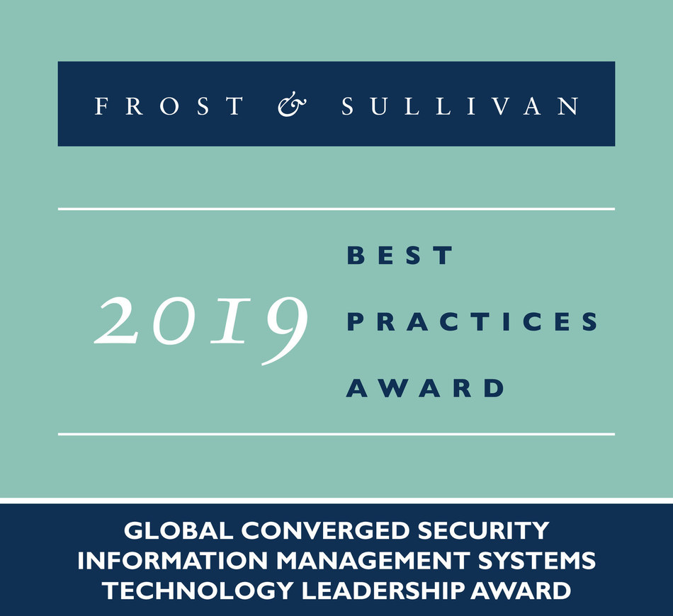 2019 Global Converged Security Information Management Systems Technology Leadership Award