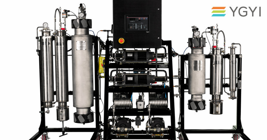 Hyper Supercritical CO2 Extraction Machines. Khrysos Global Hype Supercritical Co2 extraction systems maximize pressure and flow to achieve faster cannabinoid extraction and superior yields. (PRNewsfoto/Youngevity International, Inc.)