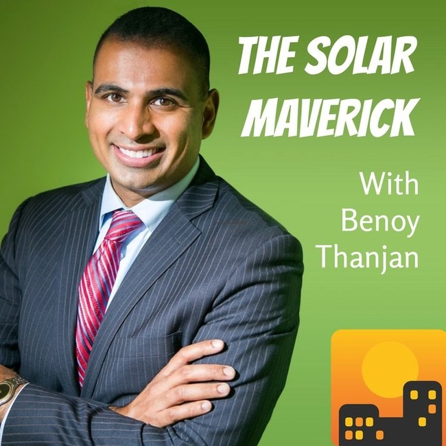 Benoy Thanjan is the host of The Solar Maverick podcast.