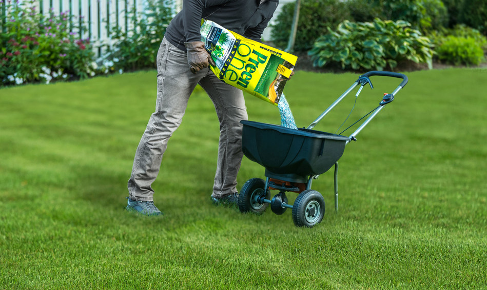 Preen One Lawncare eliminates the need for multiple lawn products to get a thick, green, weed-free lawn. One application delivers 3 essential treatments. It prevents crabgrass seeds from sprouting, and also kills the seedlings up to 4 weeks after germination. It kills dandelions plus 250 types of tough lawn weeds on contact, and feeds grass continuously with a slow release formula that promotes even greening. The optimal time to apply Preen One Lawncare is at the first sign of yellow dandelions.