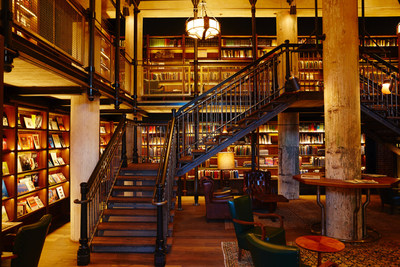 The library at Hotel Emma in San Antonio, Texas.