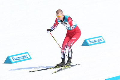 Mark Arendz, huit fois médaillé paralympique, vu ici en train de concourir aux Jeux paralympiques d'hiver de 2018 à PyeongChang, sera un des meneurs de l'équipe canadienne à Prince George. PHOTO : Comité paralympique canadien (Groupe CNW/Canadian Paralympic Committee (Sponsorships))