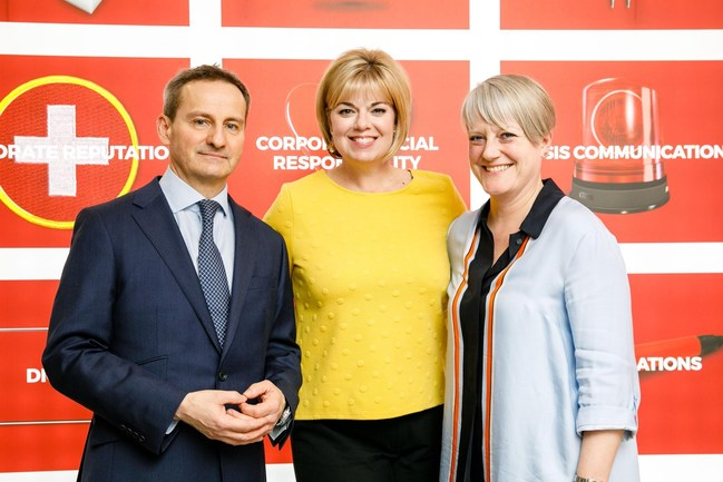 Pictured L to R from Finn Partners: Robert Kelsey, Managing Partner, Financial Services, EMEA; Alicia Young, Founding Managing Partner; Chantal Bowman-Boyles, Managing Partner, EMEA.