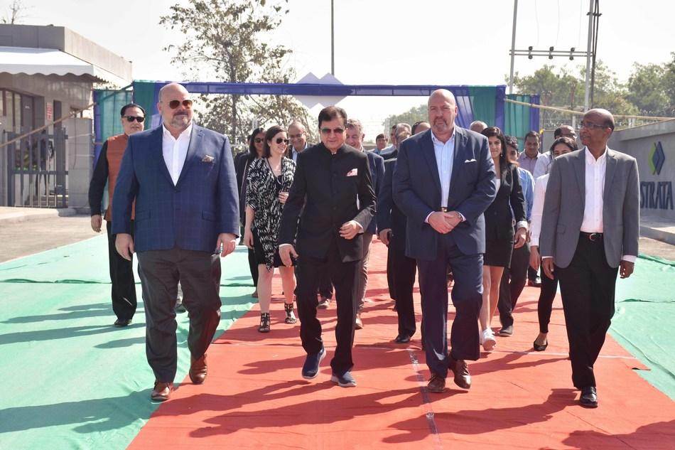 Grand opening of Strata new manufacturing plant (PRNewsfoto/Strata Geosystems India Pvt Ltd)