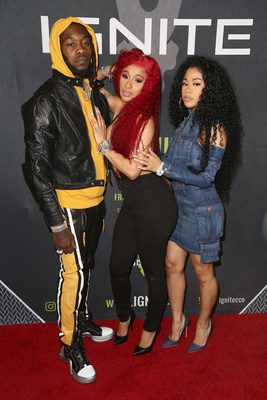 Cardi B at Ignite Angels & Devils Pre-Valentine's Day Party